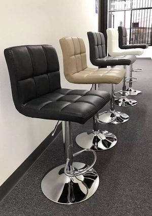 """NEW $40 each 24"""" to 33"""" seat height swivel barstool bar chair black brown grey or white for Sale in San Dimas, CA"""