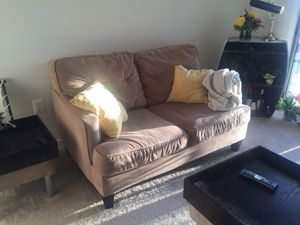 Couch Sofa with Two Side Tables / Ottoman Seats for Sale in Alexandria, VA