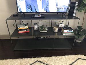 Steel gray West Elm TV console for Sale in Atlanta, GA