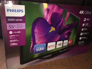 Philips 55-inch Class 4k (2160p) Smart LED TV for Sale in Haines City, FL
