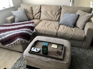 Crate & Barrel Couch & Ottoman for Sale in Walnut Creek, CA