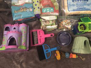Hamster/mouse/ gerbil cage, food, toys, bedding for Sale in Lake Stevens, WA