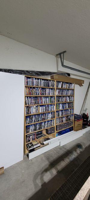 2 wooden dvd shelves for Sale in Lehigh Acres, FL