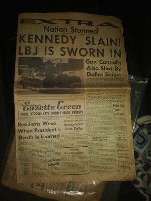 Vintage Phoenix Gazette Green newspaper. for Sale in Phoenix, AZ