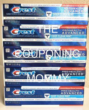 Oral Care Bundle w/ Crest Pro Health Deep Clean Mint Toothpaste (( 5 tubes )) for Sale in Clovis, CA