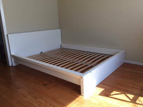 IKEA queen bed frame, MALM