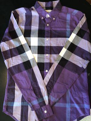 Burberry Brit men's S purple nova check shirt for Sale in Portland, OR