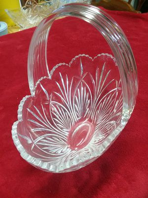 Crystal basket made in Czch Rep. for Sale in City of Industry, CA