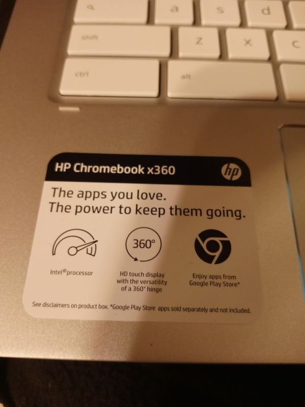 HP Chromebook Laptop Brand New Just Needs Charger