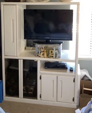 White Entertainment Center. Stuff not included for Sale in Glendora, CA