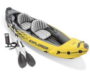Intex Explorer K2 Kayak, 2-Person Inflatable Kayak Set with Aluminum Oars and High Output Air Pump for Sale in Brooklyn, NY