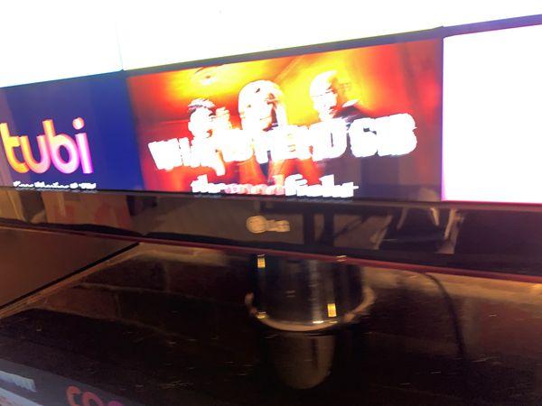 "55"" Ultra Slim LG Smart TV."