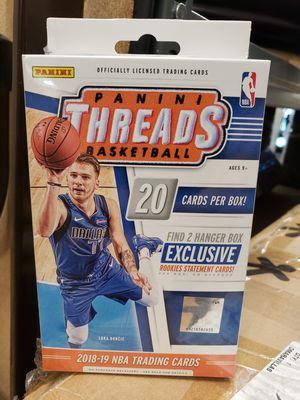 2018-19 Panini Threads Basketball Hanger Box- 20 NBA Trading Cards $8 FIRM each, 15 AVAILABLE for Sale in Redlands, CA