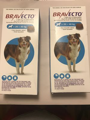 Bravecto 44-88lbs Large Dog (Blue) flea/tick/mites for Sale in Los Angeles, CA