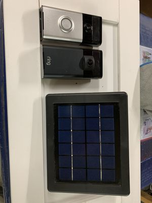 Ring and stick up cam with solar panel for Sale in Spokane, WA