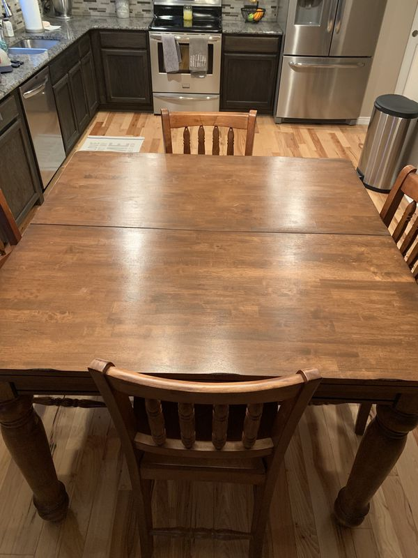 Solid oak kitchen table set
