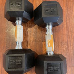 Cap Rubber Dumbbell 25 Lbs Pair for Sale in Garden Grove, CA