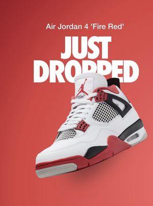 Jordan 4 'Fire red' 2020 size 11.5 for Sale in Doraville, GA