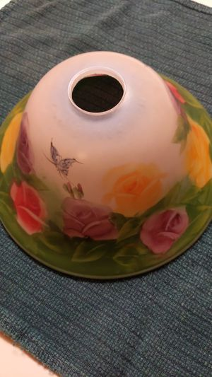 Hand painted glass lamp shade for Sale in Palmdale, CA