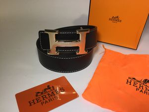 Hermes Black Gold H Buckle Belt for Sale in New York, NY