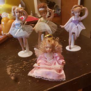 6 Inch Vintage Porcelain Ballerinas and Angel for Sale in Parkersburg, WV