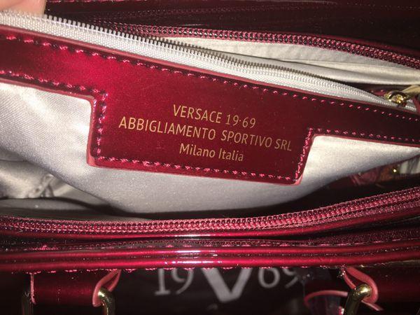 657bffbe4fbb NWT VERSACE 1969 Abbigliamento Sportivo SRL Italy DESIA TOTE Handbag ...