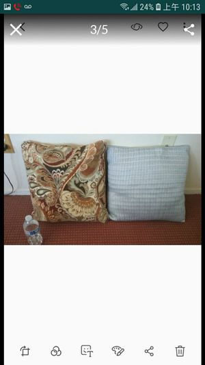 Home decor pillows $5 for both for Sale in Winchester, CA