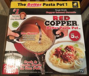Red Copper better pasta pot 5qt Brand New for Sale in San Diego, CA