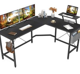 59 Inch L-Shaped Computer Office Desk, Corner Gaming Desk with Monitor Stand, New In Box for Sale in Tolleson,  AZ