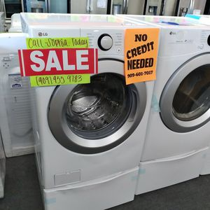 Lg Electric Washer Dryer Set - Ask For Sophia for Sale in Highland, CA