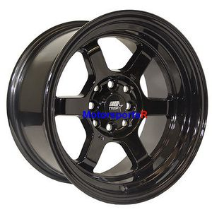 MST Wheels Time Attack Rims 15 x 8 +0 Black 4x100 Stance 90 99 00 05 Mazda Miata for Sale in La Puente, CA