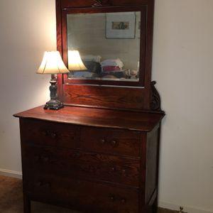 Antique Dresser and Mirror for Sale in Laurel, MD
