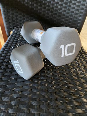 CAP 10 lbs Rubber Dumbbells Brand New for Sale in Silver Spring, MD