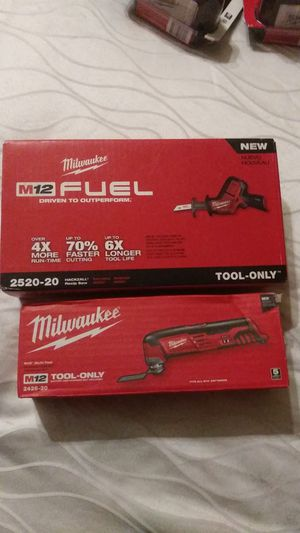 Milwaukee M12Fuel HACKZALL(2520-20) & MULTI-TOOL(2426-20) for Sale in Phillips Ranch, CA
