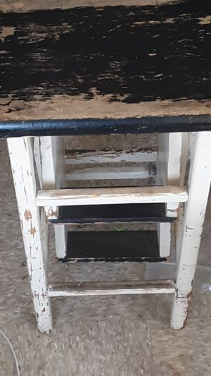 Antique foldable stepping ladder stool for Sale in Portland, OR