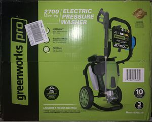 Greenworks Pro 2700 PSI 2.3-Gallon-GPM Cold Water Electric Pressure Washer for Sale in Miramar, FL