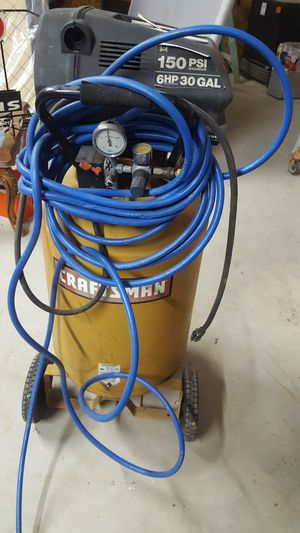 6 hp 30 gallon air compressor ( parts only ) for Sale in Conroe, TX