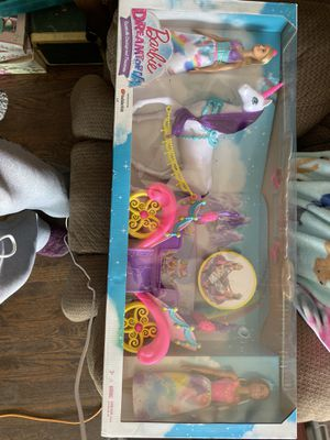 Barbie Horse and Carriage set two dolls, new for Sale in Colorado Springs, CO