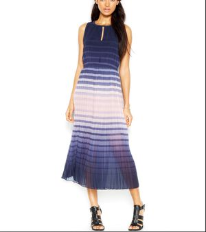 Maison Jules Women's Sleeveless Ombre Striped Midi Dress XXS Blue/Pink for Sale in Alexandria, VA
