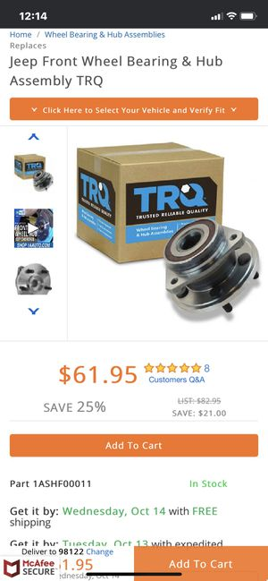Wheel bearings and hubs for Sale in Tacoma, WA