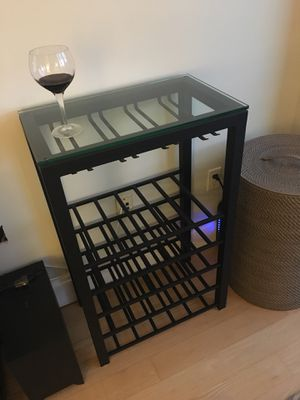 Crate & Barrel Glass Top Wine Bar for Sale in New York, NY