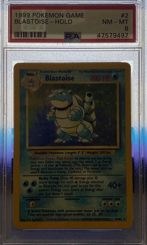 1999 Pokémon Game Blastoise Holo PSA 8 for Sale in West Covina, CA