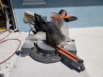 "Ridgid 12"" 15 AMP, Dual Bevel Sliding Miter Saw With 70 Degree Mier Capacity for Sale in St. Petersburg,  FL"