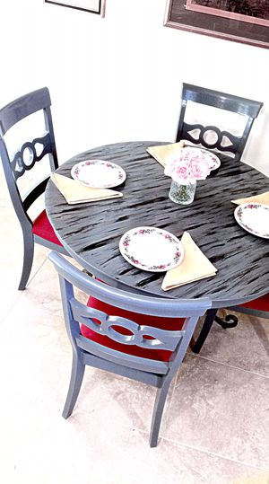 Custom dining table and 4 soft cushion chairs. MAKE OFFER for Sale in Delray Beach, FL