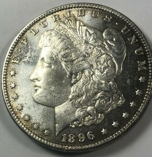 RARE Deep Mirrored Proof-Like 1896 Morgan Silver Dollar- Rare High Mint MS65 Coin W/ Full Feathers & Luster- $1,020 Book Value! for Sale in Reston, VA