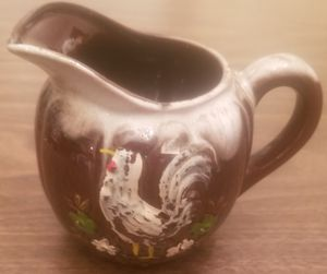 Rooster design brown drip creamer pitcher for Sale in Three Rivers, MI