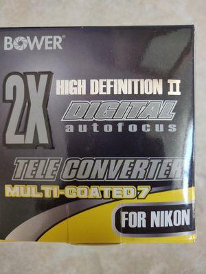 BOWER SX7NIK 2X Tele Converter Lens for NIKON for Sale in Orlando, FL