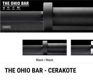 Rogue Fitness Ohio Bar Black Cerakote Barbell (20kg) for Sale in Newport Beach, CA