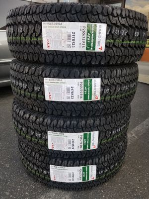 265 75 16 KUMHO ALL TERRAIN TIRES for Sale in Colton, CA