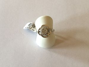 Solid silver and diamond ring size 7 for Sale in Cumberland, RI